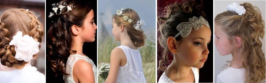 Eleganckie fryzury komunijne dla dziewczynek i gości